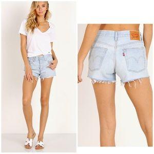 Levi's' 501 denim cut off jean shorts 26